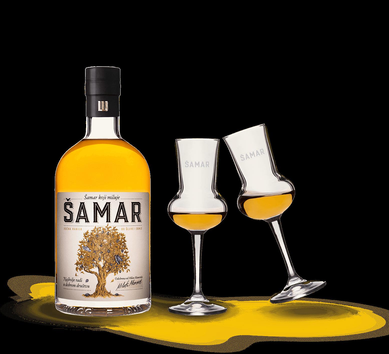 samar-rakija-flaša-čašice